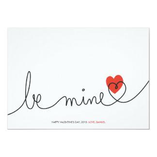 La tarjeta del día de San Valentín minimalista sea Invitación 12,7 X 17,8 Cm