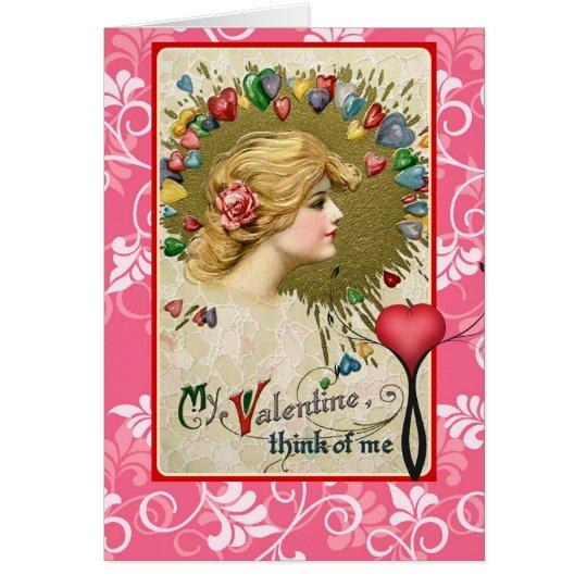 La tarjeta del día de San Valentín Schmucker rojo