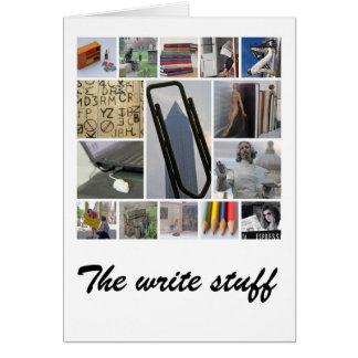 La tarjeta del escritor