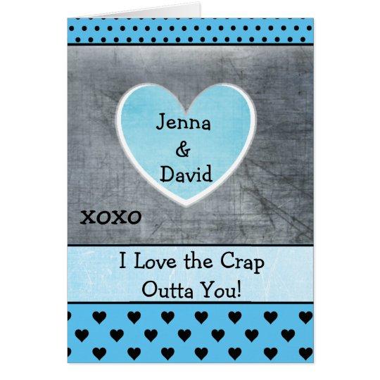 La tarjeta del par, xoxo azulado grisáceo