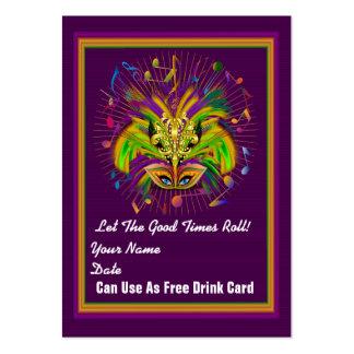 La tarjeta del tiro del carnaval de la reina del tarjetas de visita grandes