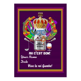 La tarjeta del tiro del carnaval ve por favor tarjetas de visita grandes