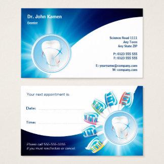 La tarjeta dental azul el | de la cita personaliza