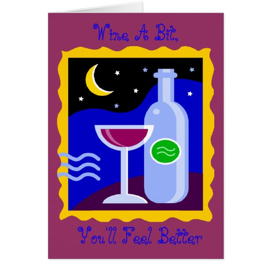 La tarjeta en blanco, Wine un pedazo, usted