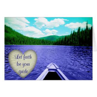 "La tarjeta Encouraging ""dejó la fe ser canoa de su"