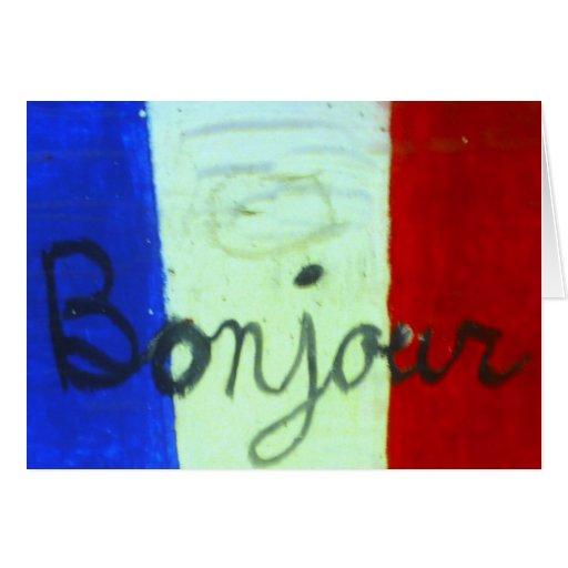 La tarjeta francesa de la bandera