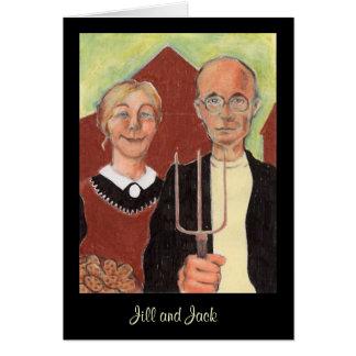 La tarjeta gótica americana de la tarjeta del día