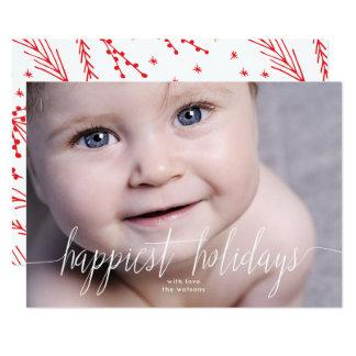 La tarjeta más feliz de la foto del navidad de los