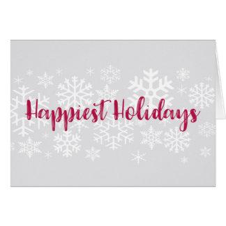 La tarjeta más feliz de los días de fiesta de la
