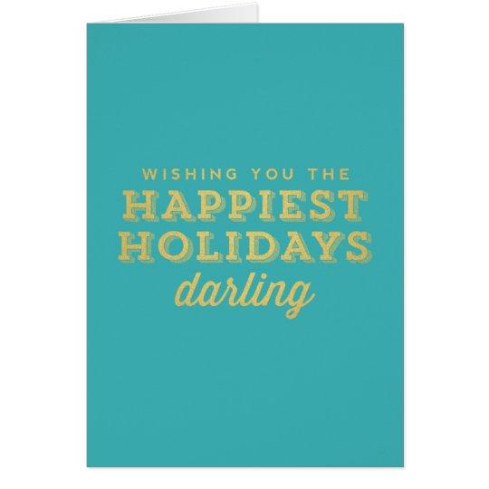 La tarjeta más feliz del querido de los días de