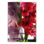La tarjeta más profunda de Gladiola de la condolen