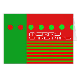 La tarjeta moderna de las Felices Navidad puntea r