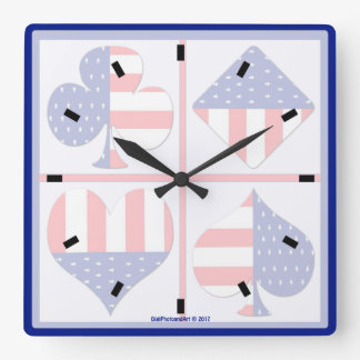 La tarjeta patriótica se adapta al reloj cuadrado