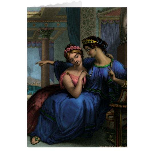 La tarjeta romana de las hermanas