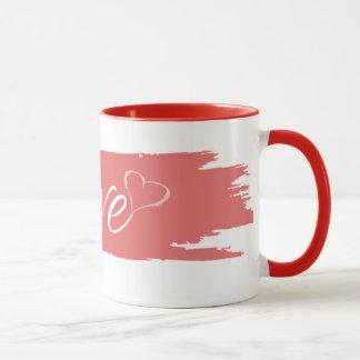 La taza 11oz Pink23 rojo del amor por Zazz_it