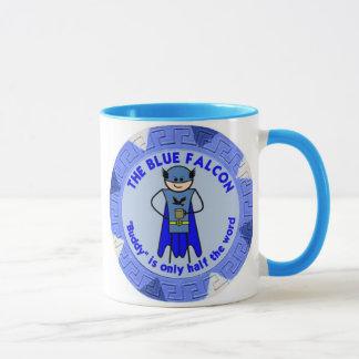 La taza azul del halcón