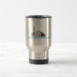 La taza de café clásica del viaje de la fábrica