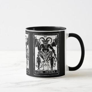 La taza de café de la tarjeta del diablo