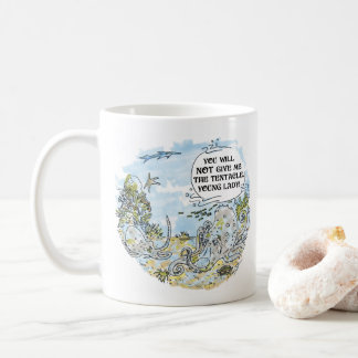 La taza de café derecha del dibujo animado del