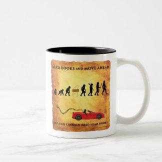 La taza de café este hombre de las cavernas