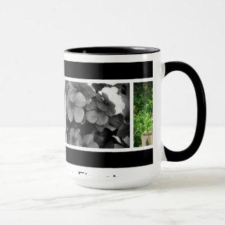 La taza de café incluye las fotos de las