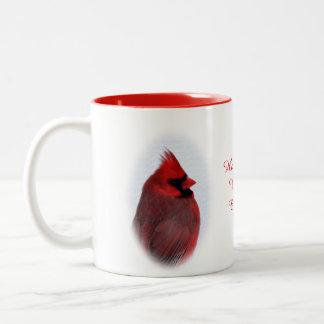 La taza de la bebida de los cardenales personaliza