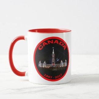 La taza de la hoja de arce de Canadá