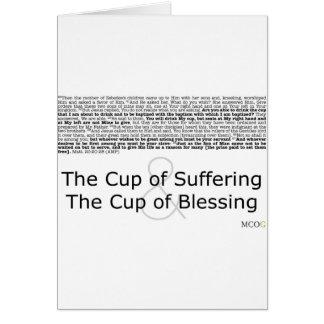 La taza de sufrimiento y la taza de bendición tarjeton