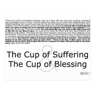 La taza de sufrimiento y la taza de bendición postal