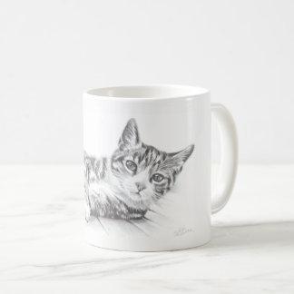 La taza del gato, taza del arte del gato, amantes