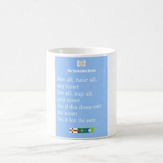 ¡La taza del lema de Yorkshire, gran idea para un