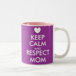 La taza el   del día de madres guarda calma y