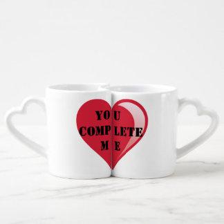 La taza fijó para cualquier mitad del corazón 2 de