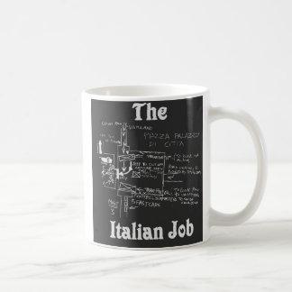 La taza italiana del mapa del trabajo