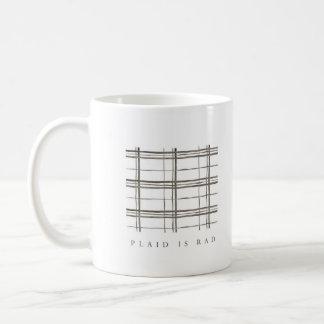 La tela escocesa es taza del Rad