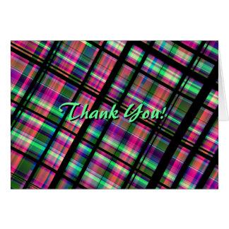 "La tela escocesa ""le agradece!"" Tarjetas de nota"