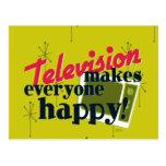 ¡La televisión hace cada uno feliz! Postales