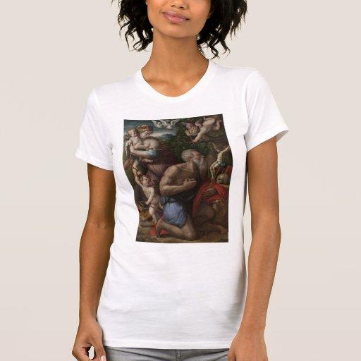 La tentación de St Jerome de Giorgio Vasari Camiseta