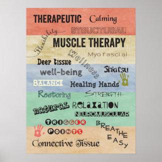 La terapia del músculo redacta el poster póster
