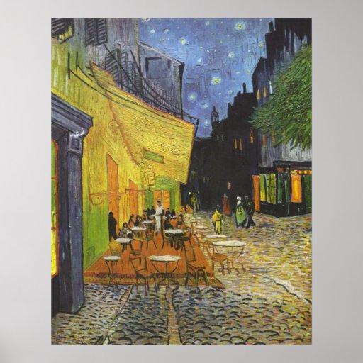 La terraza del café en el lugar Du forum Poster