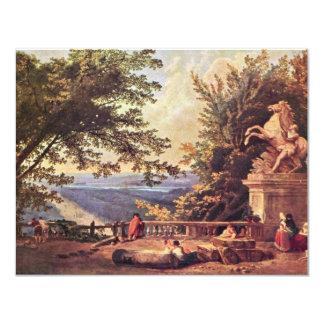 La terraza en margoso de Roberto Huberto Invitación 10,8 X 13,9 Cm