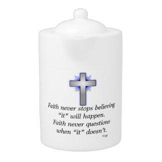 La tetera w/Blue de la fe nunca señaló por medio