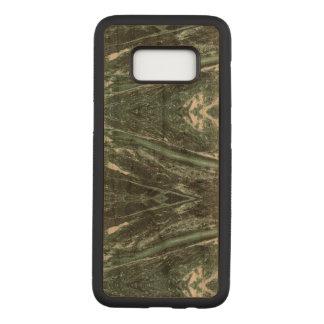 La textura de piedra de mármol verde Samsung de Funda Para Samsung Galaxy S8 De Carved