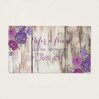La textura elegante, de madera, florece la tarjeta