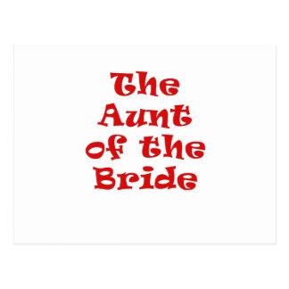 La tía de la novia postal