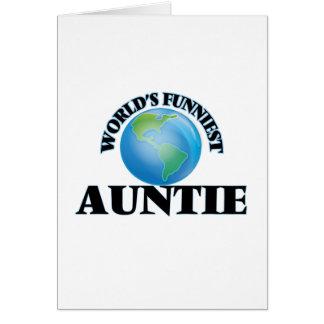La tía más divertida del mundo tarjeta de felicitación