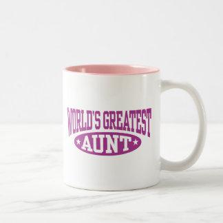 La tía más grande del mundo tazas de café