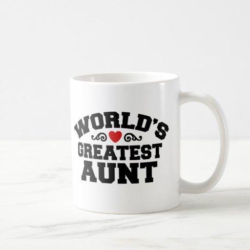 La tía más grande del mundo tazas