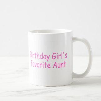 La tía preferida del chica del cumpleaños taza
