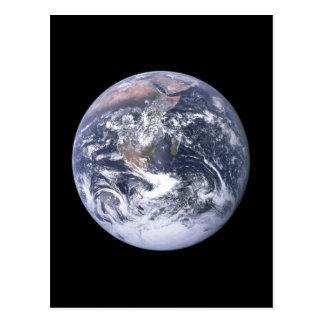 """"" La tierra de mármol azul parece de Apolo 17 Postal"
